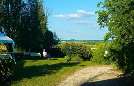 Beautiful view from wedding marquee