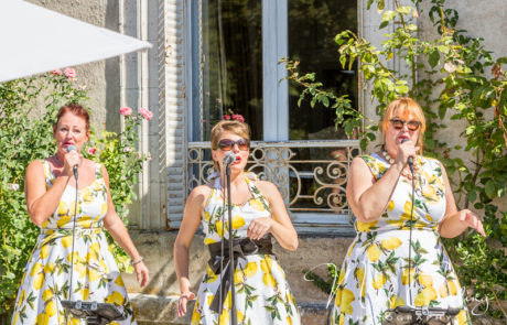 The Candies perform at afternoon receptions in France